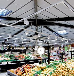 Éclairage supermarché à Aups